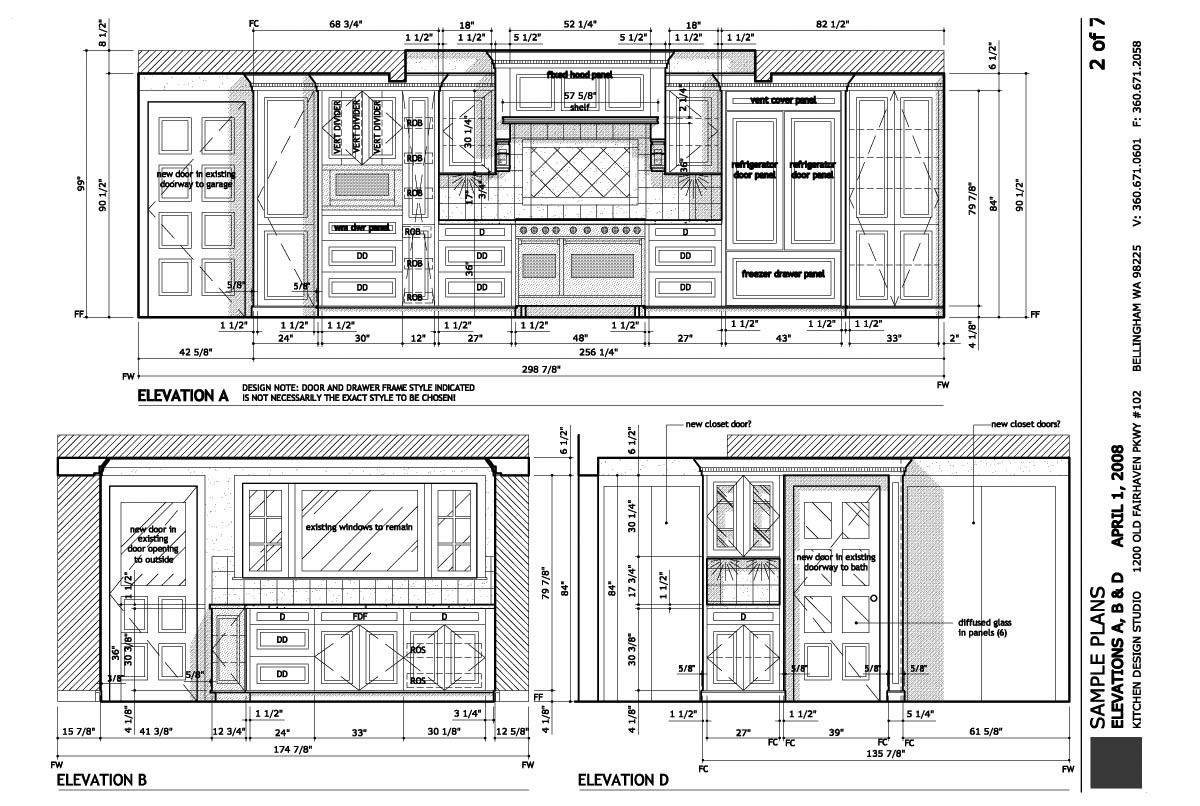 Construction plans kitchen design studio for Pictures of kitchen plans